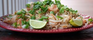 Pad Thai Recipe: Pad Thai serving on plate