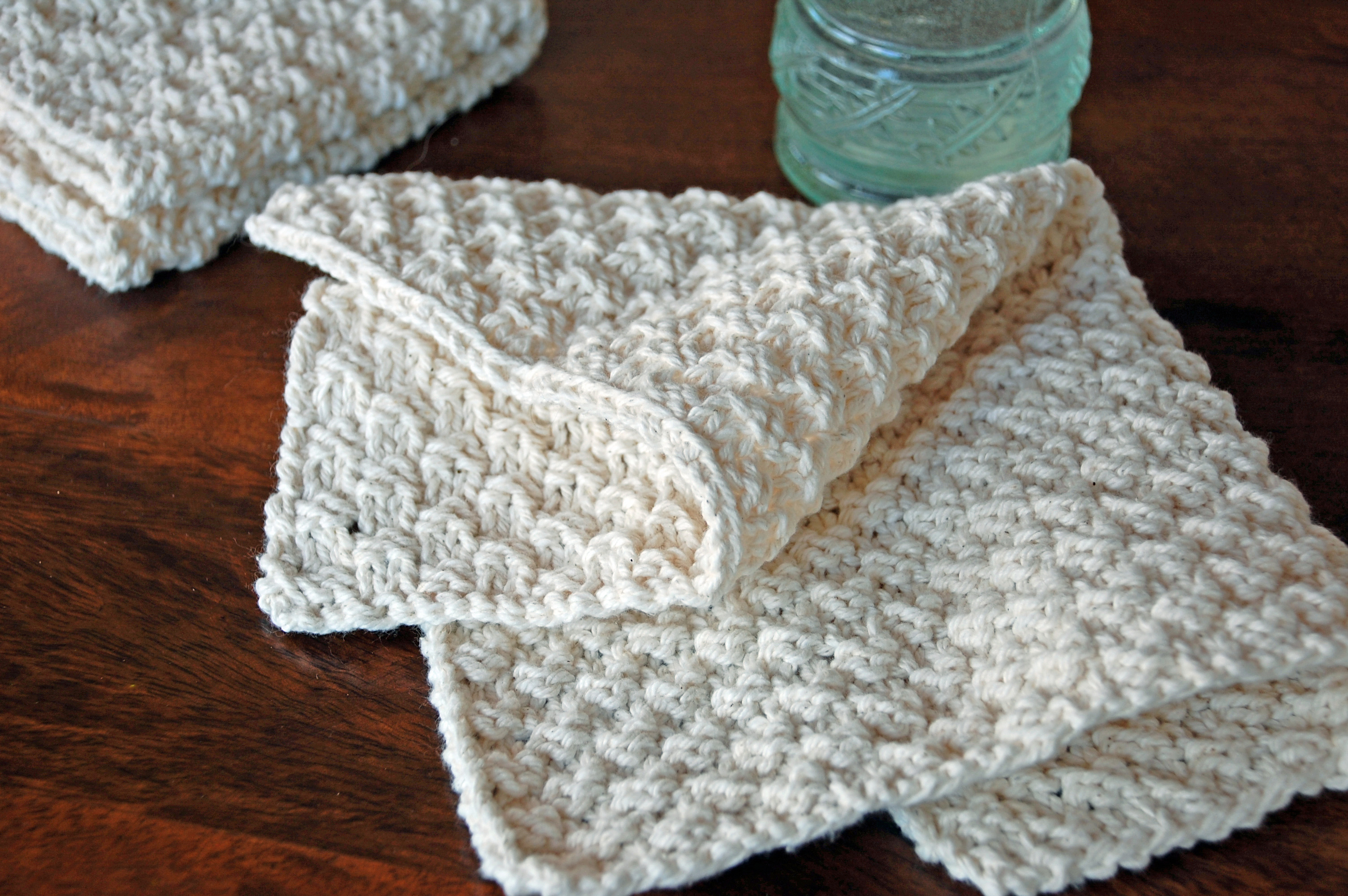 How to Make Hand Knit Washcloths • Nourish and Nestle