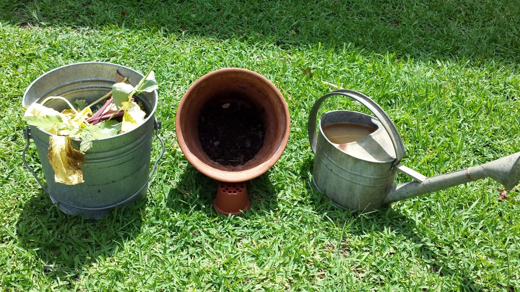 3 Stages...vegetation waste, compost and compost tea