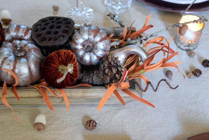 Thanksgiving Centerpiece from Overhead
