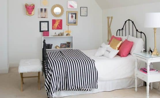 Bedroom Ideas to take a tween girl bedroom to a teen room. DIY interior design ideas.