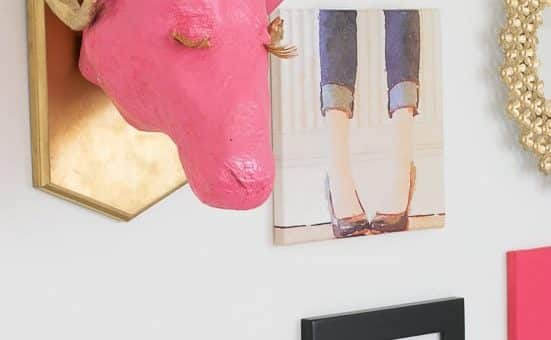 Step by step instructions and illustrations to make a paper mache ram trophy head to mount on plaque or directly on the wall. Perfect for a gallery wall.