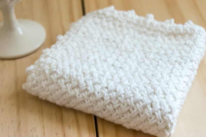DIY Knit Blanket with Diagonal Basketweave Stitch • Nourish and Nestle