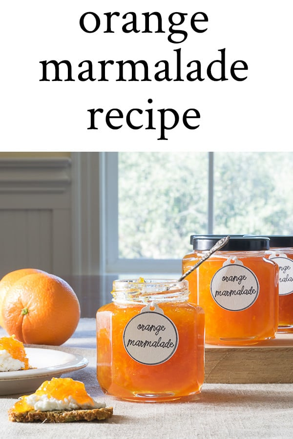 Orange Marmalade on crackers