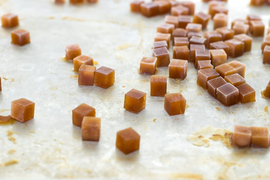 Iced coffee cubes for Iced Mocha Latte Popsicles.