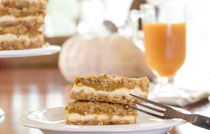 Pumpkin Cheeecake Bars...perfect dessert for fall.
