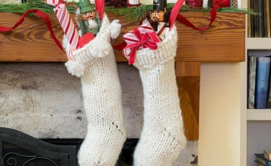 Knit Christmas Stocking knits up quickly.