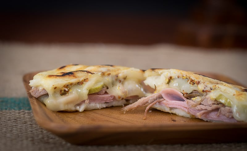 Cubano Sandwich on Arepa