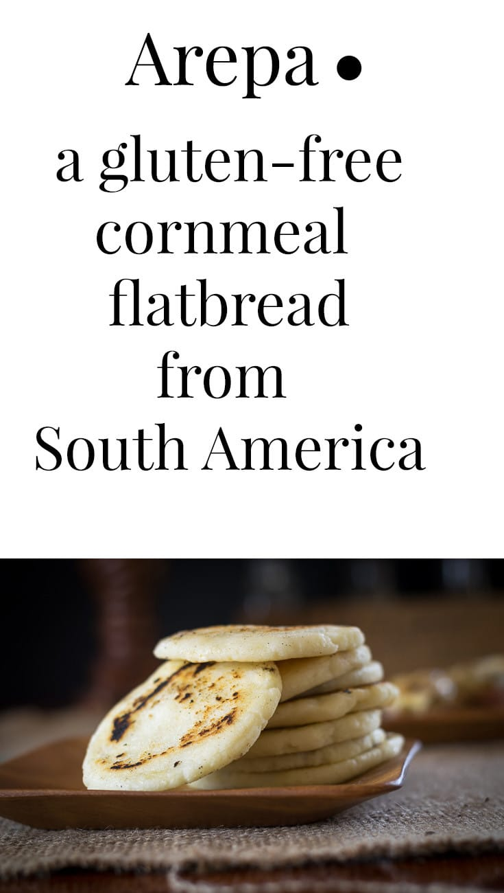 Arepa are gluten-free, thick tortilla-like bread from South America. This Arepa recipe is easy to make and is the perfect gluten free substitute for bread.