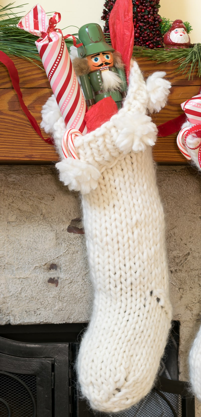 Chunky Knit Christmas Stocking Pattern • Nourish and Nestle