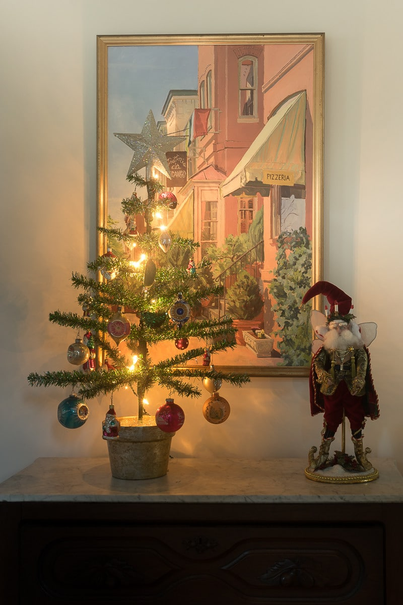 Christmas foyer with Funky Little Tree