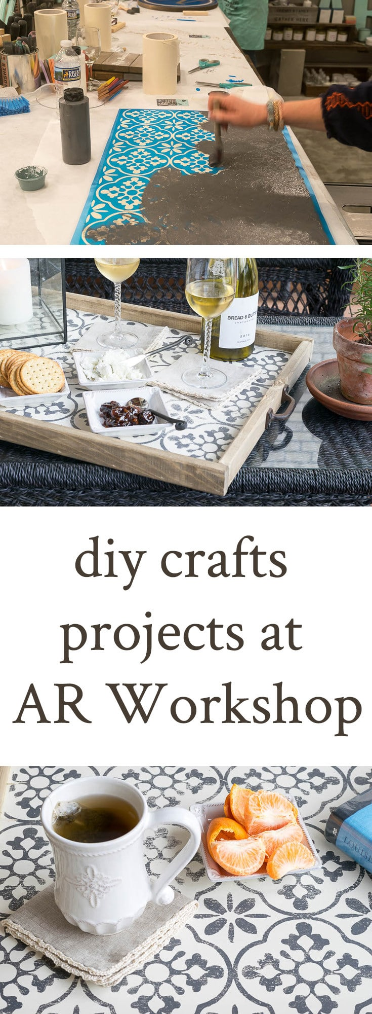 Are you familiar with AR Workshops? For creative sorts, it's a dream come true! This chain of DIY Crafts Boutiques throughout the US caters to DIY-ers with a wide variety of home decor diy projects. Perfect venue for a girl's night, birthday party, shower and date night.
