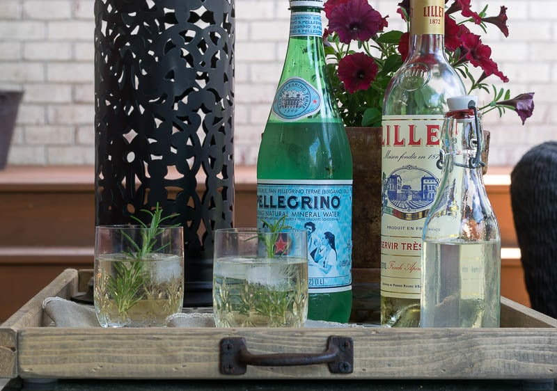 ingredients for rosemary lillet spritzer