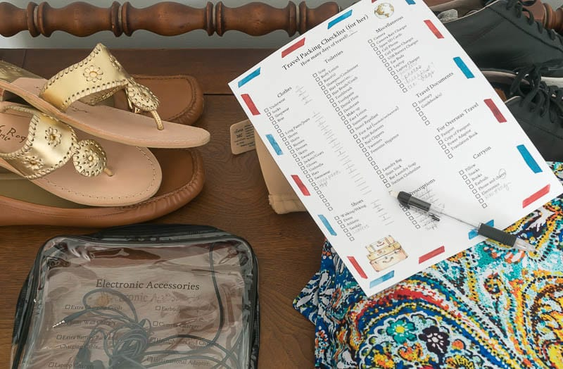 If you love to travel, or have to do it out of necessity, having an organized system is imperative. Tips for organized travel, as well as packing checklist.