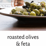 roasted olives and feta appetizer