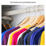 a decluttered closet after the decluttering the bedroom checklist challenge