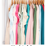 Go through you clothing during the bedroom declutter challenge