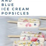 Red, White and Blue Ice Cream Popsicles