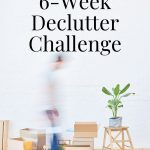 Pin showing boxes of clutter for the 2021 Declutter Challenge